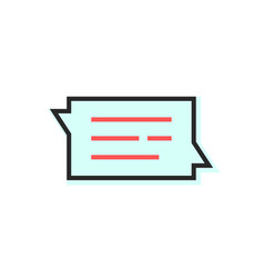message speech bubble with dialog logo vector image