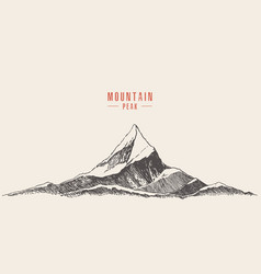 mountain logo style hand drawn vector image vector image