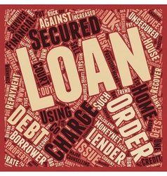 Nsecured loan to secured loan how a loan company vector