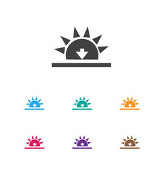 of air symbol on sundown icon vector image vector image