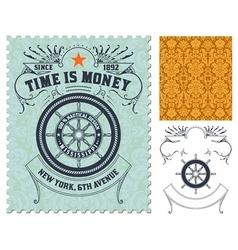 Retro stamp design vector image