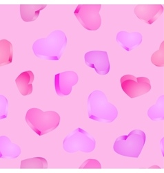 Seamless background 3d hearts valentines day vector