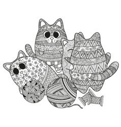 set of boho cats vector image vector image
