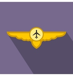 Sign of airplane with wings flat icon vector