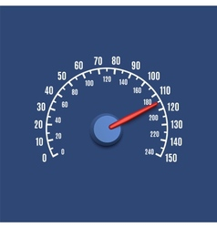 Simple speedometer icon vector