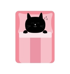 Sleeping cat baby pet animal collection for kids vector