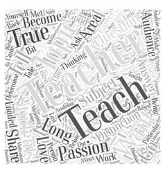 So what do you want to teach word cloud concept vector