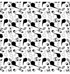 Surrealism stylized seamless pattern vector
