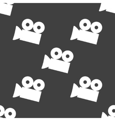Video-camera web icon flat design seamless gray vector