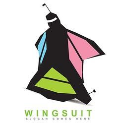 Wingsuit base logo vector