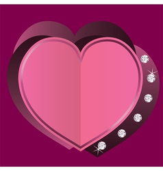 Heart for valentines day vector