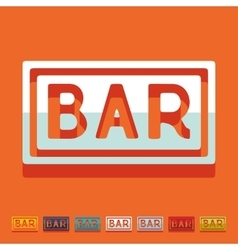 Flat design bar vector