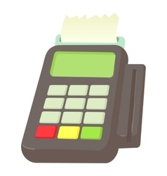 Card reader icon cartoon style vector