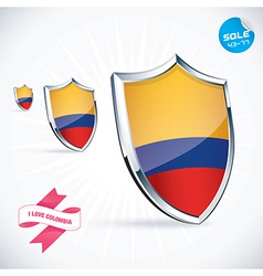 I love colombia flag vector