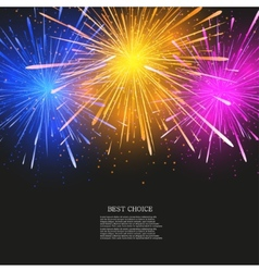 creative fireworks modern background vector image