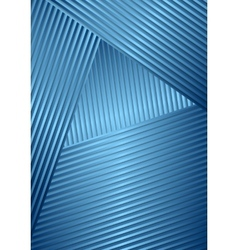 Abstract striped design vector image