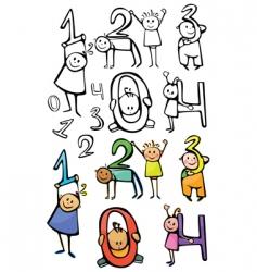 numbers kids vector image
