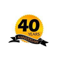 40 years ribbon anniversary vector image vector image