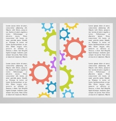 Flyer or broshure design with gear wheels vector