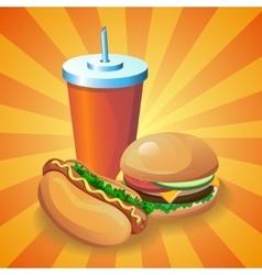 Hotdogburgercola vector