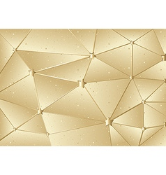 Golden xmas mesh vector