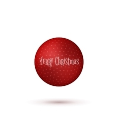 Realistic christmas red ball with shadows vector