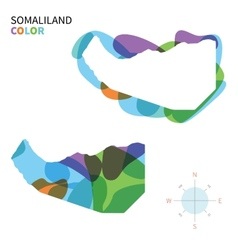 Abstract color map of somaliland vector