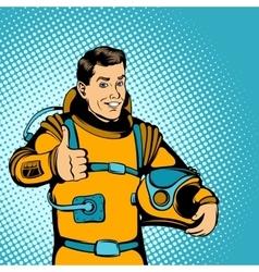 Astronaut concept comics style vector image