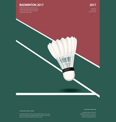 badminton championship poster vector image vector image