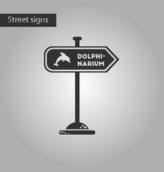 black and white style icon dolphinarium sign vector image vector image