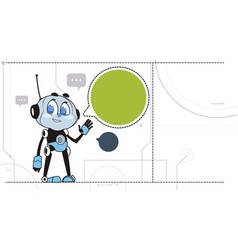 Chatbot robot support technology chatter bot in vector