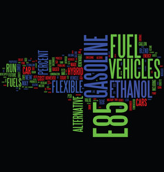 Ethanol and e fuels of the future text background vector