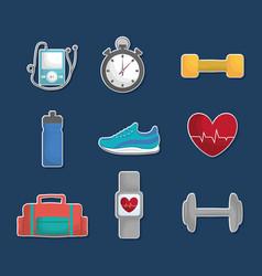 Fitness lifestyle design vector