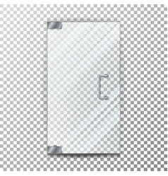 glass door transparent element to the vector image