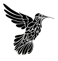 Humming-bird silhouette graphic drawing vector