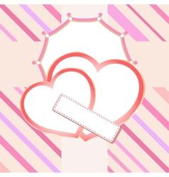 love heart in bridal vector image