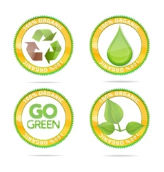 nature eco emblems vector image