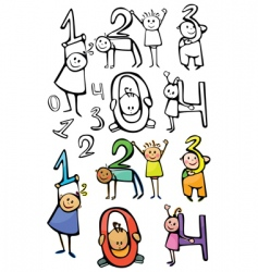 numbers kids vector image