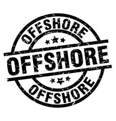 Offshore round grunge black stamp vector