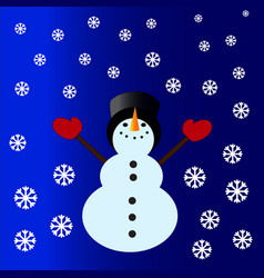 snowman with a cylinder vector image