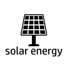 solar energy black icon vector image vector image