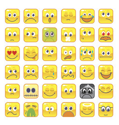Square smileys vector