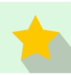 Star icon flat style vector image