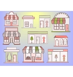 Store buildings vector