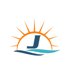 Wave sunset initial j vector