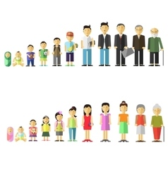 with different age of people vector image