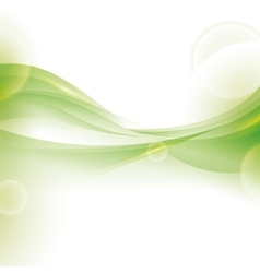 Wave wallpaper shiny green background icon vector