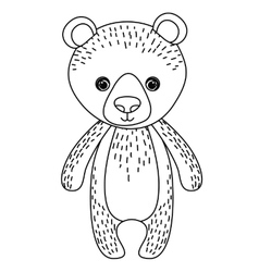 Bear animal cartoon design vector