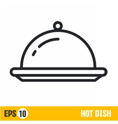 Line icon hot dish vector