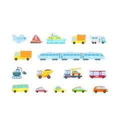 Set of transport variety machines methods cargo vector